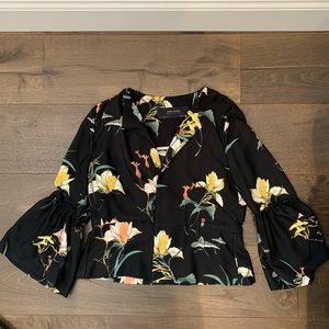 Zara Basic Collection Blazer with Bell Sleeves